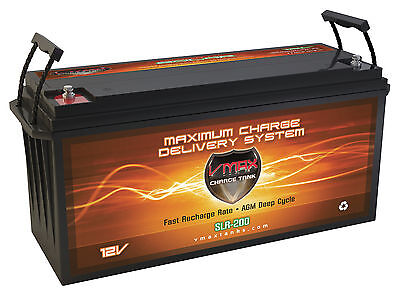 VMAX SLR200 AGM 12V 200Ah Battery for PV Solarpanel Solar Storage / Wind Power