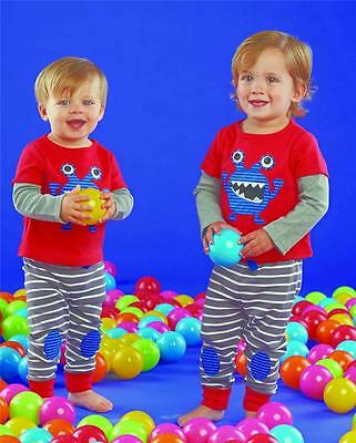 Mud Pie Baby Little Monsters Collection Boys Lounge Pants Set Pajamas 1012141