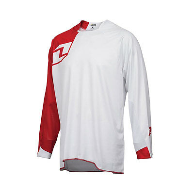 One Industries Vapor Solid White / Red Motocross Mx Mtb Bike Cycle Jersey