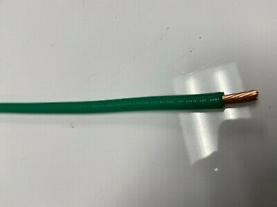 Mtw 6 Awg Gauge Green Stranded Copper Sgt Primary Power Ground Wire 25' Ft Usa
