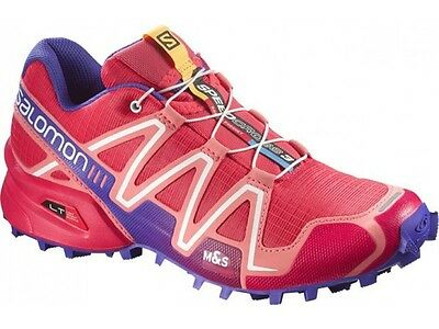 TRAIL RUNNING shoes Women's SALOMON SPEEDCROSS 3 W Papaya Melon UK 4 EU 36 2/3