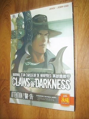 BD/Manga JOURNAL D'UN CHASSEUR DE VAMPIRES CLAWS OF DARKNESS TOME 3 -SOLEIL HERO