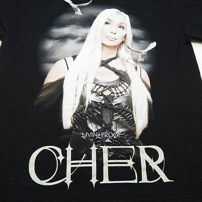 NEW CHER LIVING PROOF CONCERT TOUR TEE T SHIRT Sz Mens L two sided