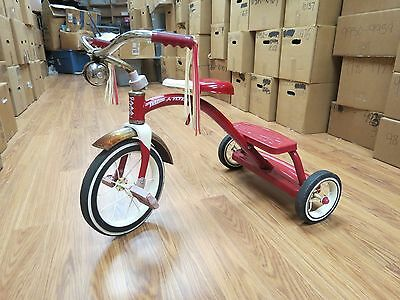 Radio Flyer Child Tricycle Retro Red Steel Frame Trike Spoke Bell Classic 18365