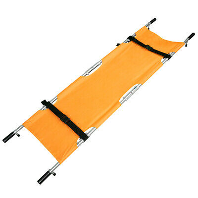 LINE2design Four Folding Stretcher w/Handles & Case Strengthened Aluminum Orange