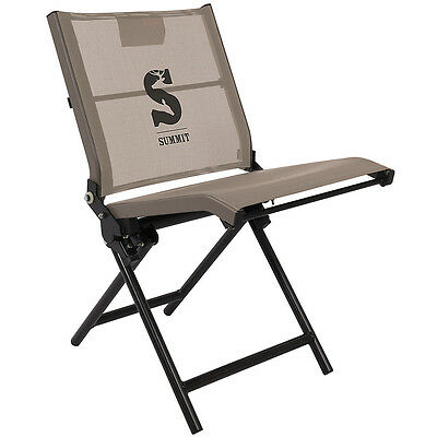 New Summit Ultra-Quiet No-Shock Mesh Ground Seat For Hunting