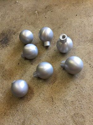 27 VTG NOS Mid Century Modern Drawer Pull Handle Aluminum Round Ball 3/4""