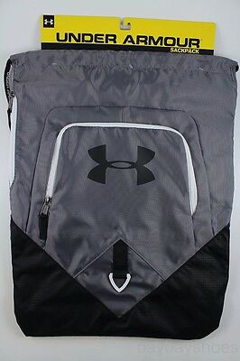 Ua Under Armour Undeniable Sackpack Gray/black Drawstring Gym Bag Backpack New