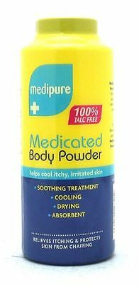 2 x Medipure Medicated Body Powder 100% Talc Free Soothing Treatment 200g
