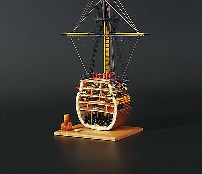 Scale 1/200 Laser-cut wooden model kit:1778 HMS Victory section warship sailboat