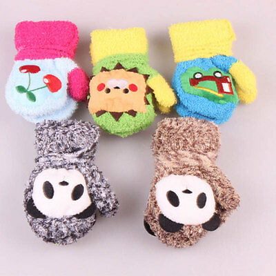 Toddler Child Infant Baby Fingerless Fall Winter Mittens Gloves Multicolor Knit
