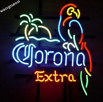 Corona Extra Parrot Bird Left Palm Tree Neon Sign Beer Bar Light FREE SHIPPING