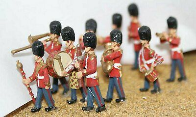 Langley Models Marching Guards Band 10 figures OO Scale UNPAINTED Model Kit F109