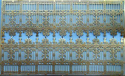 OO Scale Unpainted Model Kit 1:76 Ornate 'Cast Iron' Fencing (stately Home) F237