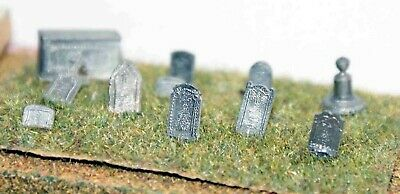 N Scale Unpainted Langley Models  Kit Grave & Tombstones - Assorted A36