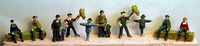 N Scale Unpainted Model Kit Farm figures- 10 Assorted A25