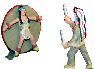 OO Scale Unpainted Models Kit Circus Red Indian Knife Throwing act CIR7