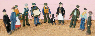 Langley Models Victorian Edwardian Working Class figures OO Scale PAINTED F9p