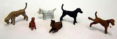 Langley Models 6 Dogs OO Scale Metal Model PAINTED F66p