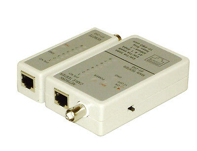 Network Cable Tester for testing RJ11, RJ12, RJ45, BNC cables with Remote Model