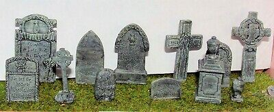 O Scale  Unpainted Model Kit (1:43) Assorted Gravestones L25