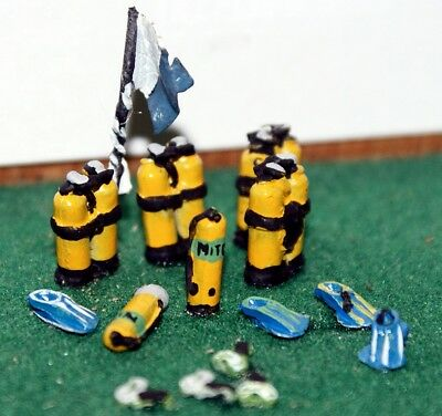 OO Scale Unpainted Model Kit Scuba Diving Tanks and Equipment F289