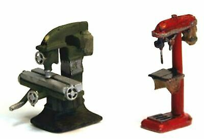 OO Scale Unpainted Model Kit Industrial Milling machine and Pillar Drill F285