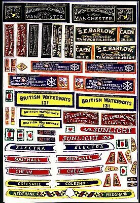 Waterslide Transfers motor Butty Boat /Canal Boat OO Scale Decals FT1