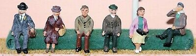 OO Scale Unpainted Model Kit  (1:76)  6 x 1950's seated figures - F51