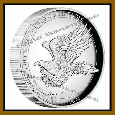 Australia 1 Dollar Silver Proof Coin 1 oz, 2015 Wedge Tailed Eagle High Relief