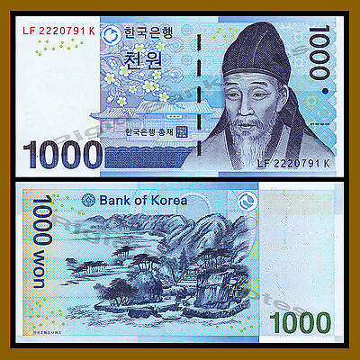 South Korea 1000 Won, 2007 P-54a Unc