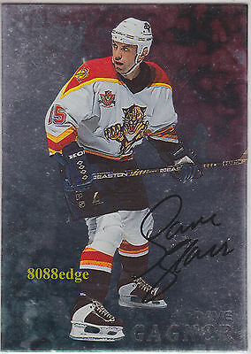 1998-99 Be A Player Auto: Dave Gagner #57 On Card Autograph Florida Panthers
