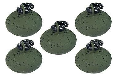 5 x NGT Green Coated 1.5oz Back Leads Easy Running Tackle For Carp Fishing