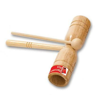 NEW Percussion Plus Two Tone Wooden Block with Beater