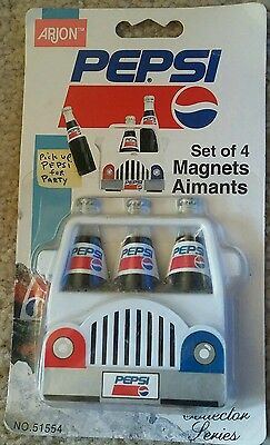 Unopened PEPSI SET OF 4 MAGNETS Collector Series No 51554 Arjon