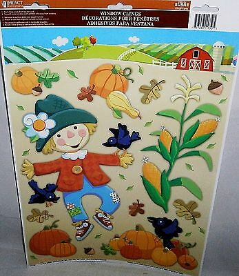 FALL  Window Clings   HAPPY SCARECROW