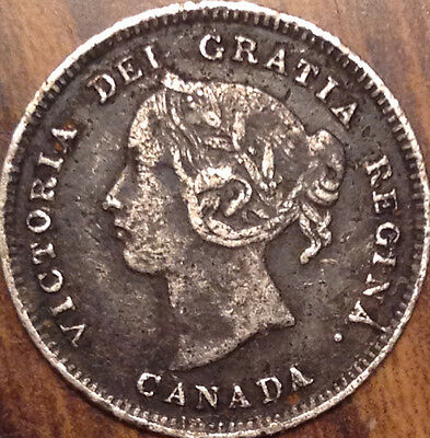 1891 Canada Silver 5 Cents Very Nice Example Have A Look !