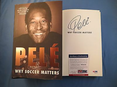 Pele Why Soccer Matters Signed Hardcover Book PSA DNA COA Autograph Brazil