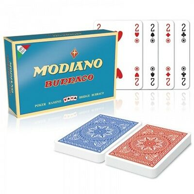 ★Carte da Gioco Burraco DX Cristallo Modiano - 300379