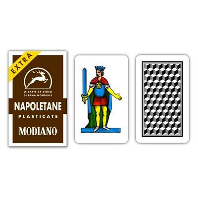 ★Carte da Gioco Modiano Napoletane Marroni 97/38 - 300039