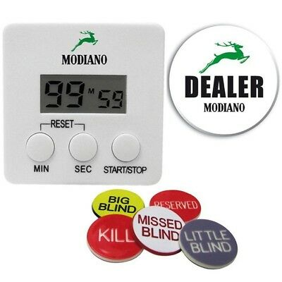 Modiano Professional Set Blind Timer e Dealer Button - 306501