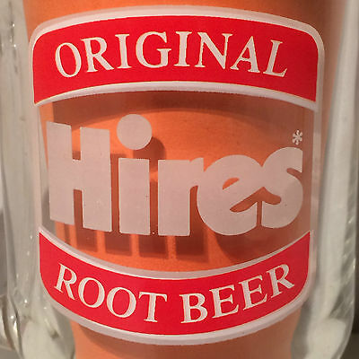 Original Hires Root Beer Float Glass Mug Cup Burger King Advertising Drink Old