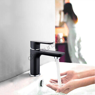 Bathroom Square Basin Sink Vanity Mixer Tap Chrome Brass Faucet Watermark WELS