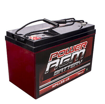 135Ah Amp Hour Battery Agm Sla 12 Volt 12V Deep Cycle Dual Battery Fridge Solar
