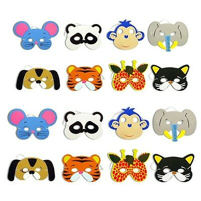 12x Childrens  Foam Animal Masks All Occasions Birthday Party Bag Filler New