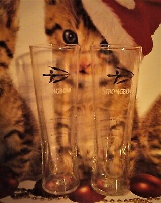 Strongbow Cider Pint Glasses (X2) NEW / CE STAMPED