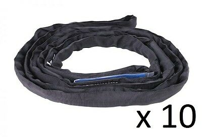 (10 Pack) 2 Tonne x 1 Metre Round Lifting Sling Rigging StageSling Entertainment