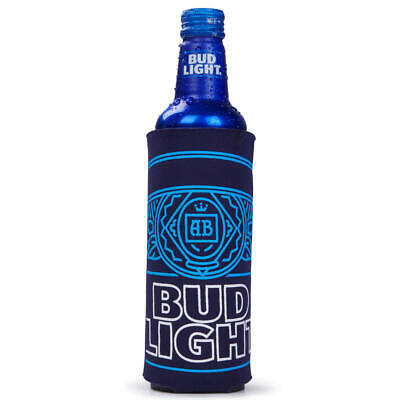 4 AUTHENTIC 2016 BUD LIGHT 16oz RETRO Beer SLIM BOTTLE Can Koozie Coolie Cruise