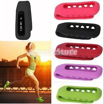 Silicone clip Cover Holder Clamp Case for Fitbit One Fitness Tracker Violet