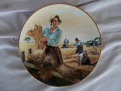 THE WOMAN'S HARVEST Little House on the Prairie Plate, NEW